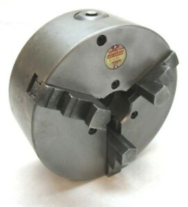 Westcott 5 Three jaw Lathe Chuck W 1 1 2 8 Threaded Mount