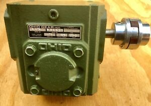 Ohio Gear B175 Worm Gear Speed Reducer Gearbox 20 1 Ratio 71 Hp With Coupling