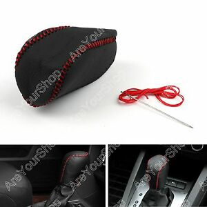 Leather Gear Shift Knob Cover Automatic For Toyota Camry Rav4 Corolla 2014 B K