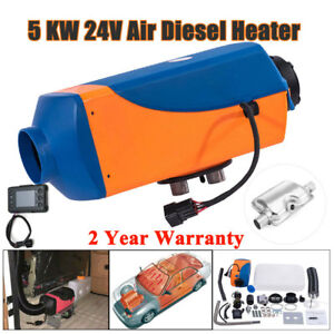 5kw Air Diesel Heater 24v Fuel Heater For Trucks Motorhome Boats Bus Lcd Monitor