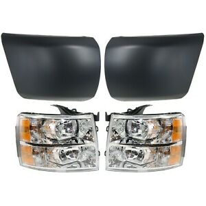 Headlight For 2007 2013 Chevrolet Silverado 1500 Front Lh And Rh Primed