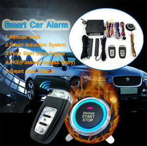 Car Alarm Smart System Pke Passive Keyless Entry Remote Lock Auto Burglar Alarm