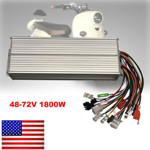 48 72v 1800w Electric Bicycle Brushless Dc Motor Speed Controller E bike Scooter