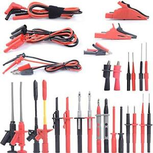 Multimeter Test Lead Kits With Alligator Clips Hooks Probes Industrial
