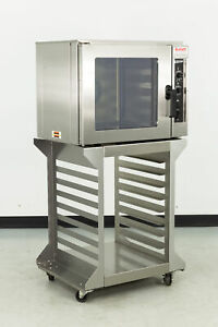 Used Doyon Dco5 Half size Electric Convection Oven W stand
