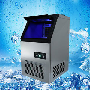 New Built in Commercial Ice Maker Stainless Steel Restaurant Ice Cube Machine