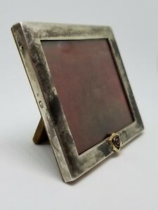 Rare C 1910 Faberge Imperial Russian 88 Silver 56 Gold 14k Ruby Picture Frame