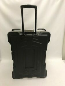 Plastic Shipping Case With Pull Handle Foam Lined Interior