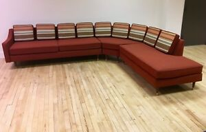 1950s Sectional Sofa W Reversible Cushions Mid Century Modern Mcm
