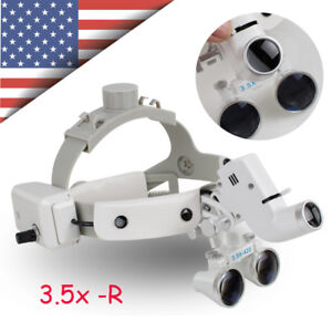 Us Dental Binocular Loupes Surgical Glass Magnifier Led Headlight 3 5x Optical