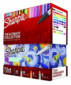 Permanent Markers Sharpie Ultimate Collection Fine Ultra Fine Points 72 Counts