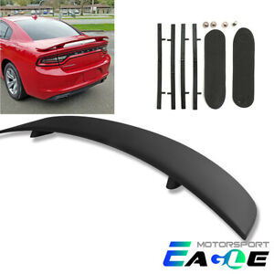 Oe Style Black Matte Rear Trunk Wing Spoiler Abs Lid For 2011 2016 Dodge Charger