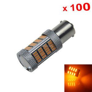 100x Yellow Rv 1156 Parking Blub Rear Lamp 92 3014 Smd Led G18 706 Z21174
