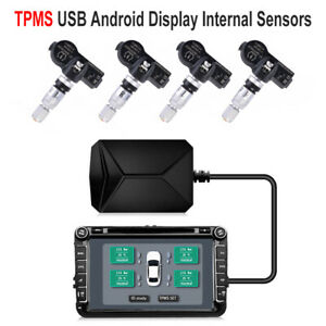 Usb Car Tpms Tire Pressure Monitoring System Internal Sensors For Android Ma1907