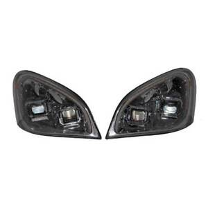 Freightliner Cascadia 08 17 Head Lamp Asse Set Man Hal With Led Indi Stri Blk