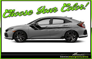 Honda Civic Racing Vinyl Hockey Stripes 2016 2017 2018 2019 Si Style 5