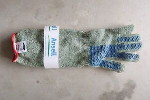 New Ansell 70 747 Size 9 L Heavy Duty Cut Resistant Gloves Yellow blue Pair