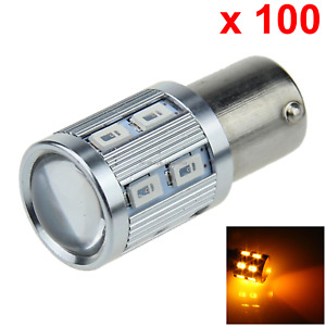 100x Yellow Auto 1156 Rear Lamp Replacement Light Hight Power 13 12 X 5630 Smd