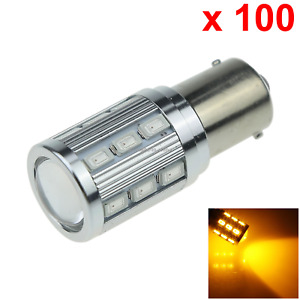100x Yellow Auto 1156 Indicator Lamp Tail Light 19 18 X 5630 Smd 1 Cree Led D0