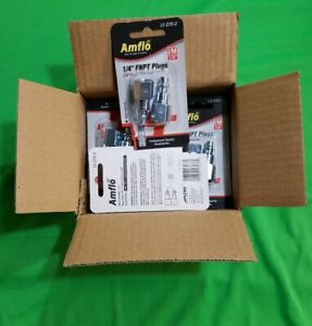 Amflo 1 4 Fnpt Plugs Male Quick Disconnect Fitting Im I M 1 Box Of 10 Packages