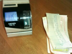 Used Amano Pix 75 Time Clock With Cards