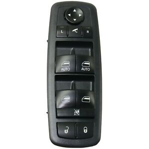New Power Window Switch Front Driver Left Side Black Lh Hand For 1500 68212784ab