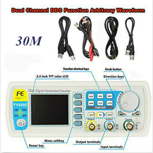 Signal Generator 2ch Pulse Dds Arbitrary Waveform Function Meter Fy6800 30mhz Us