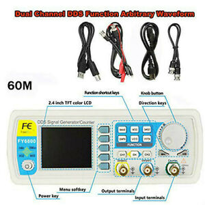 Fy6800 60mhz Signal Generator 2ch Dds Arbitrary Waveform Pulse Function Meter