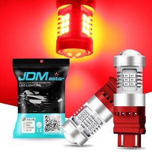 2x 3157 Red Led Strobe Flashing Blinking Brake Tail Light Safety Warning Bulbs