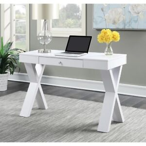 Student Writing Desk Computer Laptop Office Desks Storage Drawer White Table