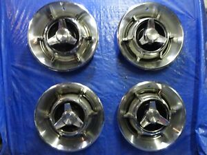 66 1966 Dodge Passenger Car And Charger 14 Spinner Wheel Covers Hubcaps Set