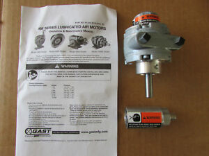 Gast 1am nrv 39a Reversible Air Motor 8 Vanes 10 000 Rpm 45 Hp 5 6lb in Muffler