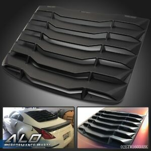 For 2003 2008 Nissan 350z 3 5l Matte Black Rear Windshiled Louvers Cover Black