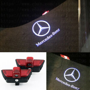 2x Car Door Light Ghost Projector Laser Logo Lamp For Mercedes Benz W204 2007 14