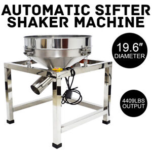 19 6 Stainless Steel Electric Vibrating Sieve Machine For Powder Particles Us