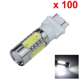100x White Car 3157 Brake Light Stop Blub 5 4 X Cob 1 Cree Led F008
