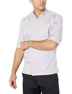 New Chef Works Men s Lansing Chef Coat White X small Free2dayship Taxfree