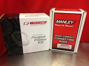 Wiseco Dodge Neon Srt4 Turbo 87 5mm Pistons With Manley H Beam Connecting Rods