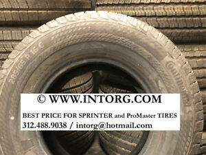 Mercedes benz Sprinter 3500 Super Single Continental 4 Tires 285 65r16 10 Ply