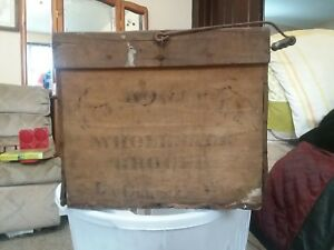 Antique Egg Crate Wood Box With Handle Jj Hogan Wholesale Grocer Lacrosse