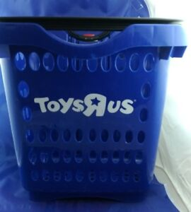 Exclusive Toys R Us Blue Plastic Rolling Shopping Basket Free Shipping