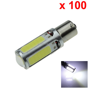 100x White Auto 1156 Indicator Lamp Tail Light 5 4 X Cob 1 Cree Led D074