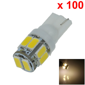 100x Warm White Rv T10 W5w Malibu Landscape Light Wedge Lamp 10 5630 Smd Led A05