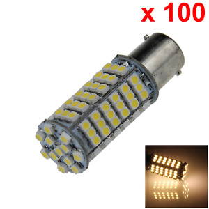 100x Warm White Auto 1156 Indicator Lamp Tail Light 102 1210 Smd Led D022