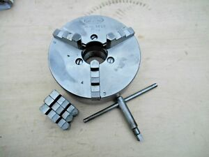 5 Union 3 Jaw Lathe Chuck Id And Od Jaws 1 1 2 8 Atlas South Bend