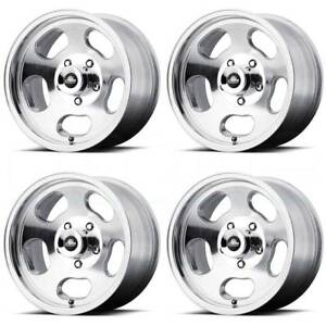 15x7 American Racing Vn69 Ansen Sprint 4x108 0 Polished Wheels Rims Set 4