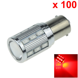 100x Red Auto 1156 Rear Lamp Replacement Light 19 18 X 5630 Smd 1 Cree Led D08