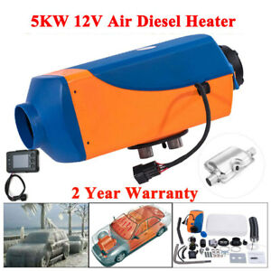 5kw Air Diesel Heater 12v Lcd Thermostat Quiet For Truck Motorhome Boat Bus Can