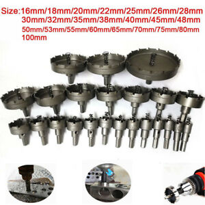 23pc Carbide Tip Tct Drill Bit Hole Saw Set Alloy Wood Metalworking Tools16 100m