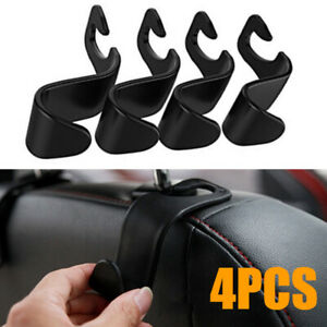 4pcs Auto Car Back Seat Headrest Hanger Holder Hook Hanger For Bag Purse Grocery